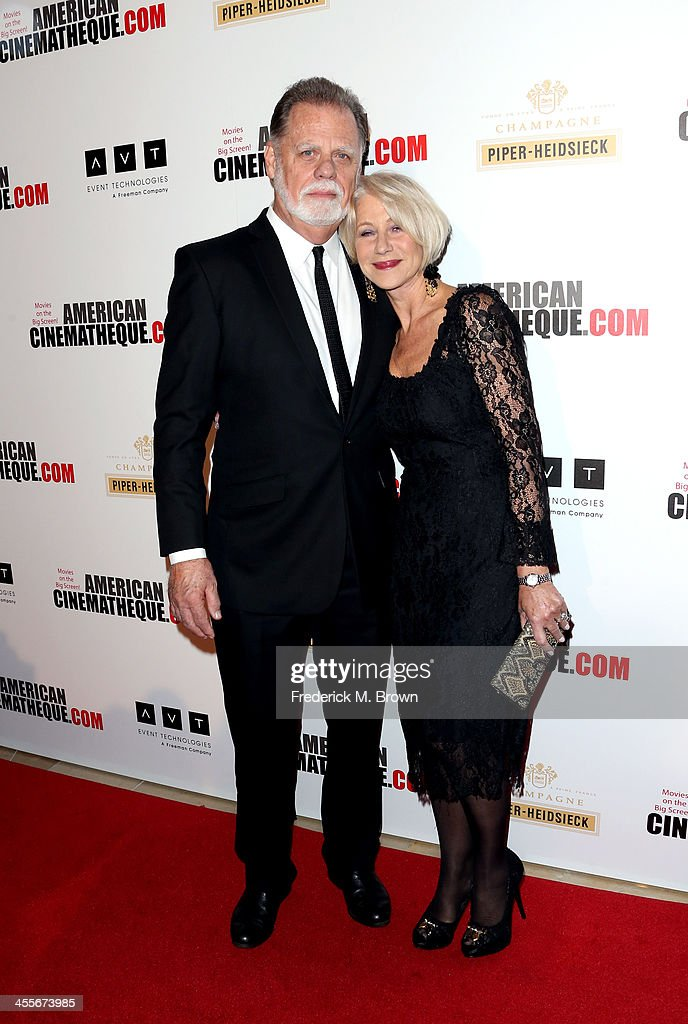 Director Taylor Hackford and actress Helen Mirren arrive at the 27th American Cinematheque Award honoring Jerry Bruckheimer at The Beverly Hilton...