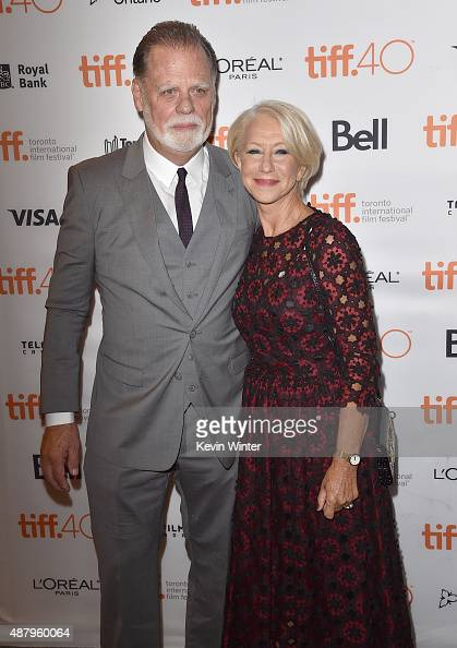 Director Taylor Hackford and actress Helen Mirren attend the 'Trumbo' premiere during the 2015 Toronto International Film Festival at The Elgin on...