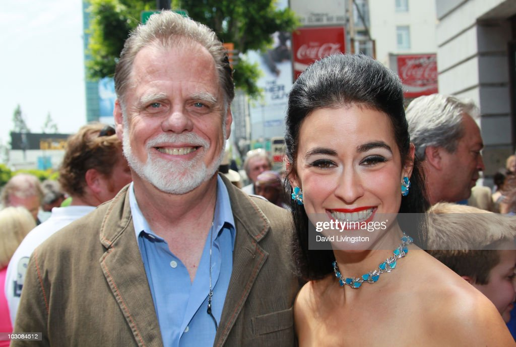 Director Taylor Hackford and singer Sarah Spiegal attend the unveiling of recording artist Louis Prima's star on the Hollywood Walk of Fame on July...