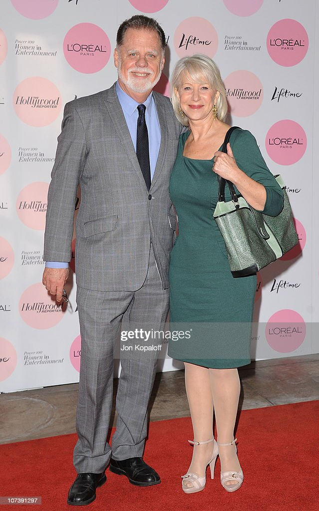 Director Taylor Hackford and wife actress Helen Mirren arrive at The Hollywood Reporter's Power 100 Women In Entertainment Breakfast at Beverly Hills...
