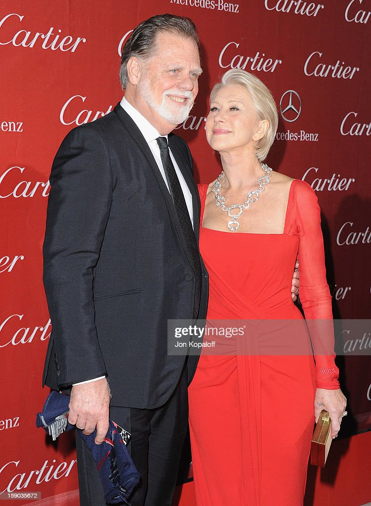 Director Taylor Hackford and wife actress Helen Mirren arrive at the 24th Annual Palm Springs International Film Festival Awards Gala at Palm Springs Convention Center on January 5, 2013 in Palm Springs, California.