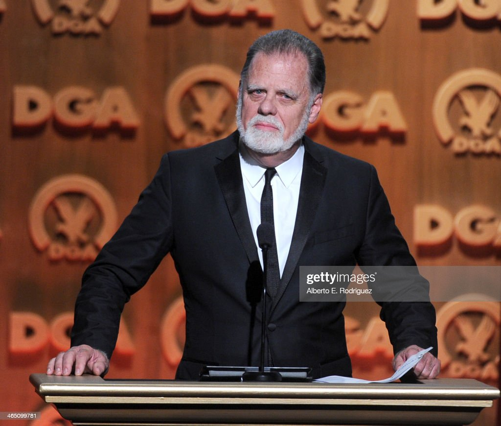 Director Taylor Hackford speaks onstage at the 66th Annual Directors Guild Of America Awards held at the Hyatt Regency Century Plaza on January 25...