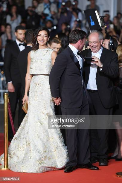 Director Taylor Sheridan and his wife Nicole Sheridan attend the 'The Square' screening during the 70th annual Cannes Film Festival at Palais des...