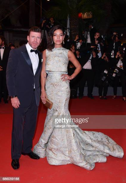 Director Taylor Sheridan and Nicole Muirbrook attend the 'The Square' screening during the 70th annual Cannes Film Festival at Palais des Festivals...