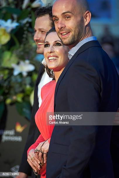 Director Telmo Iragorri singer Malu and director Curro Sanchez attend 'Zoe' premiere at the Cervantes Teather during the 19 Malaga Film Festival on...