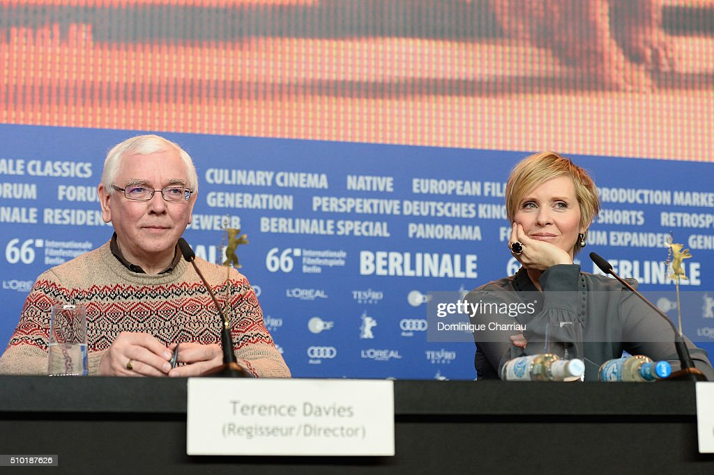 Director <a gi-track='captionPersonalityLinkClicked' href=/galleries/search?phrase=Terence+Davies&family=editorial&specificpeople=3212836 ng-click='$event.stopPropagation()'>Terence Davies</a> and Actress <a gi-track='captionPersonalityLinkClicked' href=/galleries/search?phrase=Cynthia+Nixon&family=editorial&specificpeople=202583 ng-click='$event.stopPropagation()'>Cynthia Nixon</a> attend the 'A Quiet Passion' press conference during the 66th Berlinale International Film Festival Berlin at Grand Hyatt Hotel on February 14, 2016 in Berlin, Germany.
