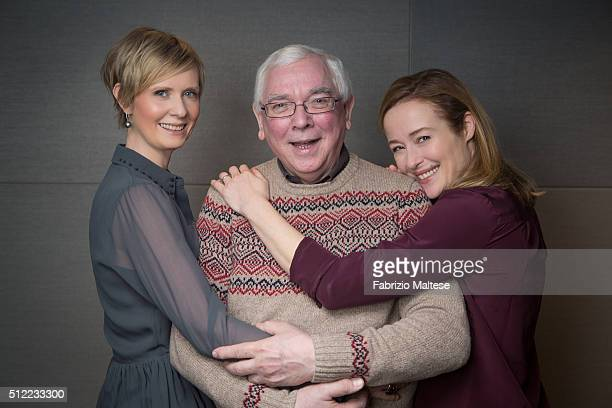 Director Terence Davies and actresses Cynthia Nixon and Jennifer Ehle are photographed for The Hollywood Reporter on February 15 2016 in Berlin...