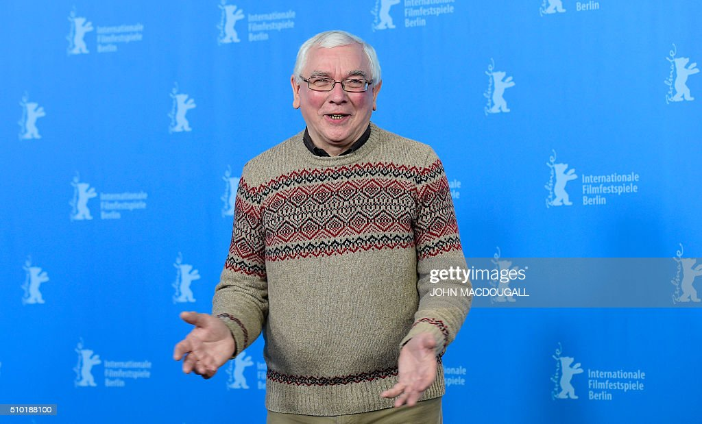 Director Terence Davies poses during a photocall for the film 'A Quiet Passion' during the 66th Berlinale Film Festival in Berlin on February 14, 2016. / AFP / John MACDOUGALL