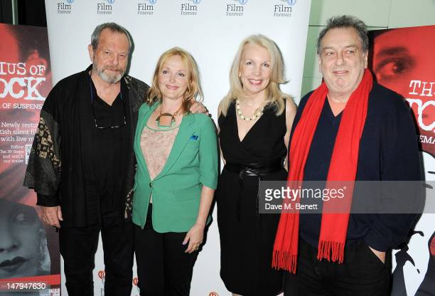 Director Terry Gilliam actress Miranda Richardson CEO of the BFI Amanda Nevill and director Stephen Frears attend the BFI's 'Genius Of Hitchcock'...