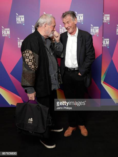 Director Terry Gilliam and actor Michael Palin attend a screening of 'Jabberwocky' during the 61st BFI London Film Festival on October 5 2017 in...