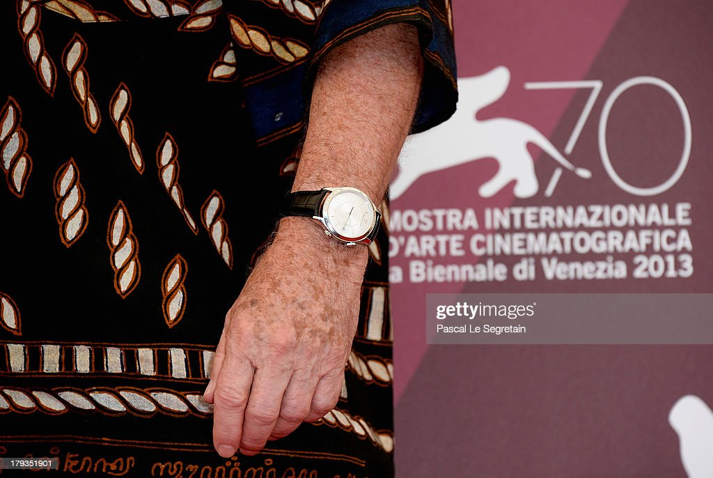 Director Terry Gilliam (watch detail) attends 'The Zero Theorem' Photocall during the 70th Venice International Film Festival at the Palazzo del Casino on September 2, 2013 in Venice, Italy.
