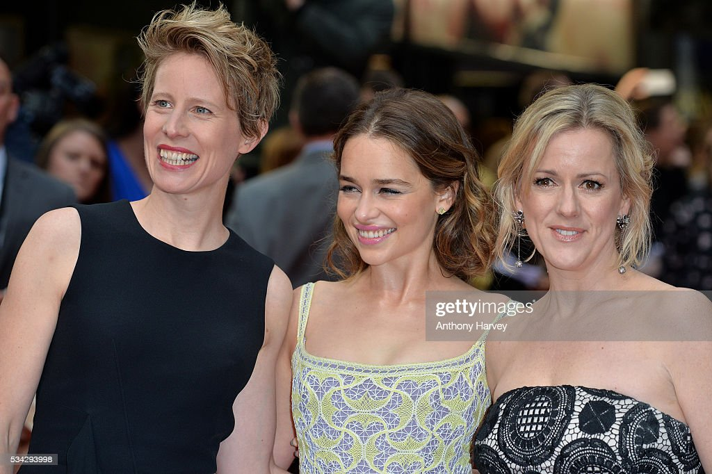 Director Thea Sharrock, <a gi-track='captionPersonalityLinkClicked' href=/galleries/search?phrase=Emilia+Clarke&family=editorial&specificpeople=7426687 ng-click='$event.stopPropagation()'>Emilia Clarke</a> and Jojo Moyes attend the European film premiere 'Me Before You' at The Curzon Mayfair on May 25, 2016 in London, England.