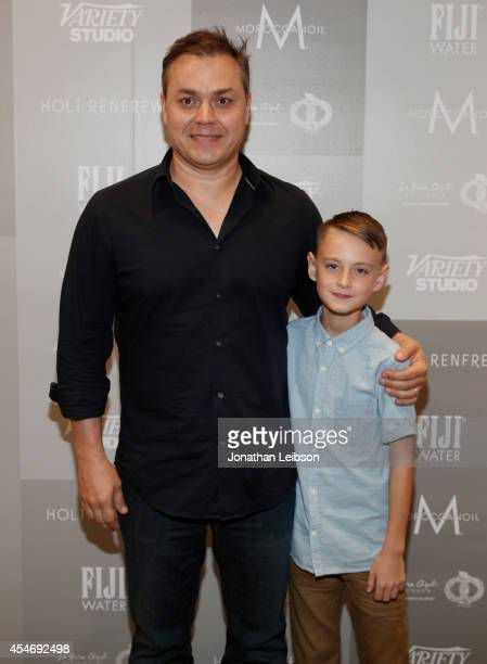 Director Theodore Melfi and actor Jaeden Lieberher attend the Variety Studio presented by Moroccanoil at Holt Renfrew during the 2014 Toronto...