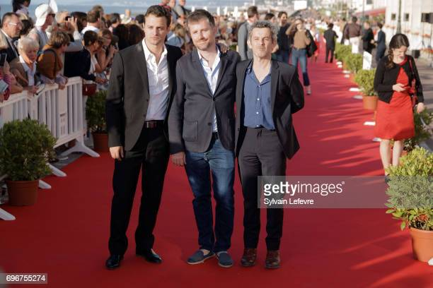 Director Thierry De Peretti HenriNoel Tabary and film producer attend red carpet of 3rd day of the 31st Cabourg Film Festival on June 16 2017 in...