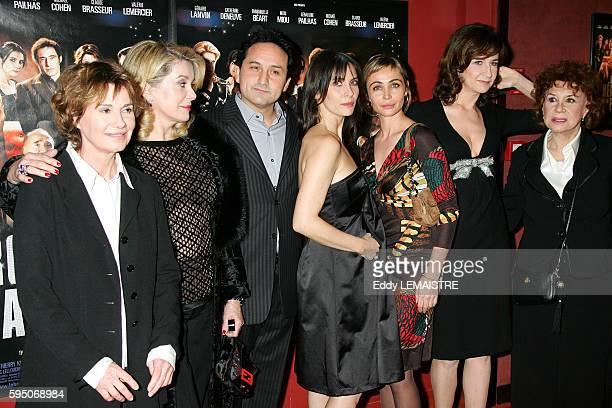 Director Thierry Klifa with members of cast Miou Miou Catherine Deneuve Geraldine Pailhas Emmanuelle Beart Valerie Lemercier and Claire Maurier...