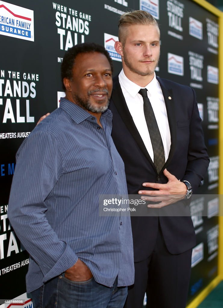 Director Thomas Carter (L) and actor Alexander Ludwig attend the premiere of Tri Star Pictures' 'When The Game Stands Tall' at ArcLight Cinemas on August 4, 2014 in Hollywood, California.