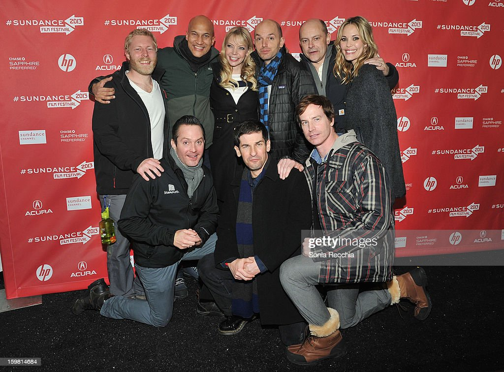 Director <a gi-track='captionPersonalityLinkClicked' href=/galleries/search?phrase=Thomas+Lennon&family=editorial&specificpeople=559662 ng-click='$event.stopPropagation()'>Thomas Lennon</a>, actors Keegan Michael Key, <a gi-track='captionPersonalityLinkClicked' href=/galleries/search?phrase=Riki+Lindhome&family=editorial&specificpeople=2649294 ng-click='$event.stopPropagation()'>Riki Lindhome</a>, <a gi-track='captionPersonalityLinkClicked' href=/galleries/search?phrase=Paul+Scheer&family=editorial&specificpeople=805513 ng-click='$event.stopPropagation()'>Paul Scheer</a>, director Robert <a gi-track='captionPersonalityLinkClicked' href=/galleries/search?phrase=Ben+Garant&family=editorial&specificpeople=4067279 ng-click='$event.stopPropagation()'>Ben Garant</a> and actors <a gi-track='captionPersonalityLinkClicked' href=/galleries/search?phrase=Rob+Corddry&family=editorial&specificpeople=583934 ng-click='$event.stopPropagation()'>Rob Corddry</a>, Rob Huebel and <a gi-track='captionPersonalityLinkClicked' href=/galleries/search?phrase=Leslie+Bibb&family=editorial&specificpeople=560382 ng-click='$event.stopPropagation()'>Leslie Bibb</a> attend the 'Hell Baby' premiere at Library Center Theater during the 2013 Sundance Film Festival on January 20, 2013 in Park City, Utah.