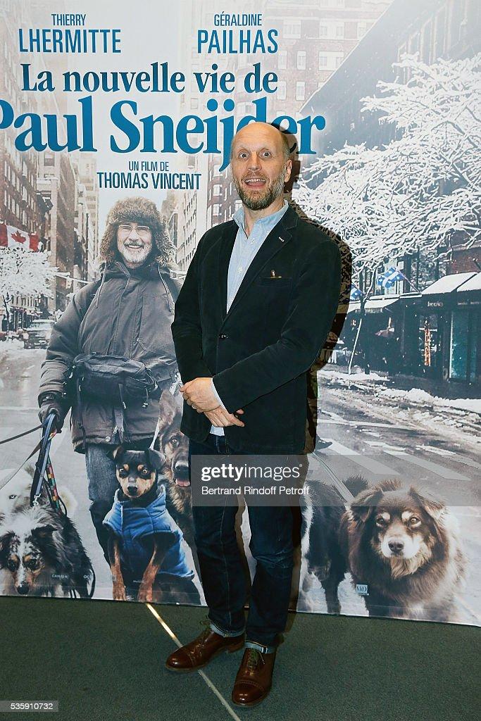 Director Thomas Vincent attends the 'La Nouvelle Vie De Paul Sneijder' Premiere at UGC Cine Cite des Halles on May 30, 2016 in Paris, France.