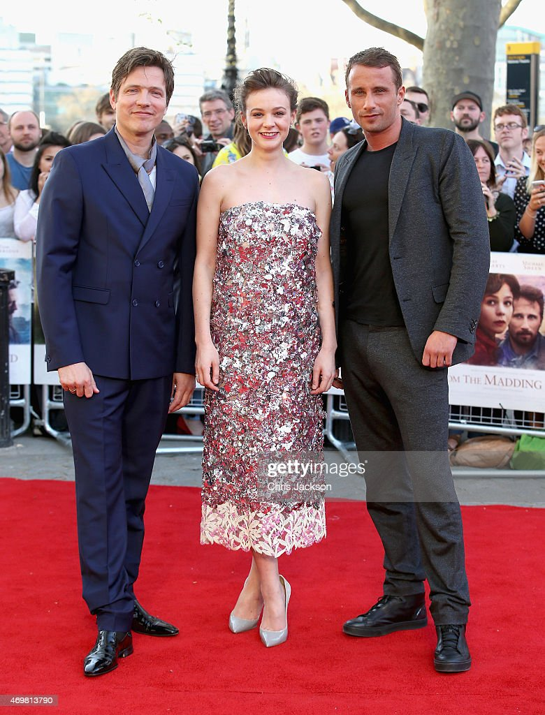 Director <a gi-track='captionPersonalityLinkClicked' href=/galleries/search?phrase=Thomas+Vinterberg&family=editorial&specificpeople=2247734 ng-click='$event.stopPropagation()'>Thomas Vinterberg</a>, actress <a gi-track='captionPersonalityLinkClicked' href=/galleries/search?phrase=Carey+Mulligan&family=editorial&specificpeople=2262681 ng-click='$event.stopPropagation()'>Carey Mulligan</a> and actor <a gi-track='captionPersonalityLinkClicked' href=/galleries/search?phrase=Matthias+Schoenaerts&family=editorial&specificpeople=6259320 ng-click='$event.stopPropagation()'>Matthias Schoenaerts</a> attend the World Premiere of 'Far From The Madding Crowd' at BFI Southbank on April 15, 2015 in London, England.