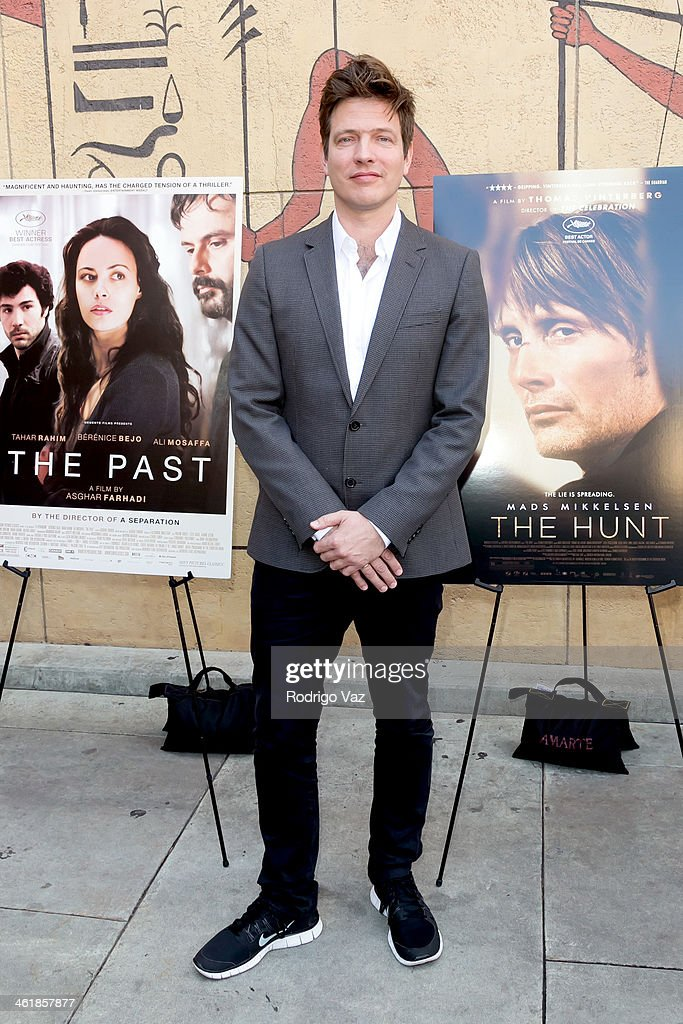 Director Thomas Vinterberg attends the Golden Globe ForeignLanguage Nominees panel discussion and screening series photo op at American...
