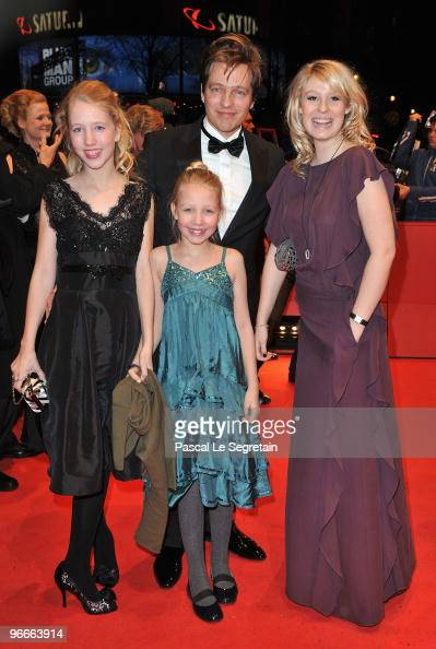 Director Thomas Vinterberg attends with his daughters Nana and Ida and actress Helena Reingaard Neumann the 'Submarino' Premiere during day three of...