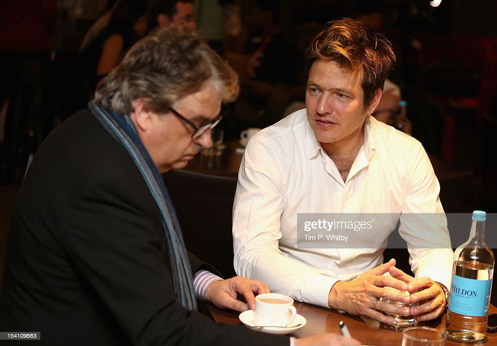 Director Thomas Vinterberg speaks to the media as he attends the Filmmaker Afternoon Tea during the 56th BFI London Film Festival at The Mayfair...