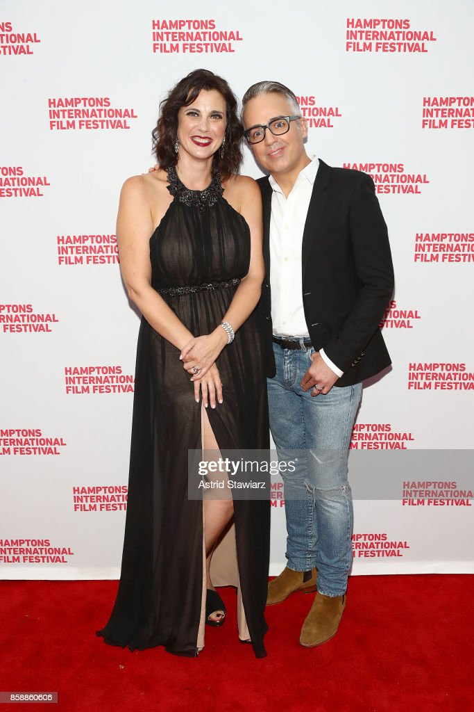 Director Tiffany Bartok and producer Troy Surratt attend the photo call for 'Larger Than Life, The Kevyn Aucoin Story' during Hamptons International Film Festival 2017 - Day Three on October 7, 2017 in East Hampton, New York.