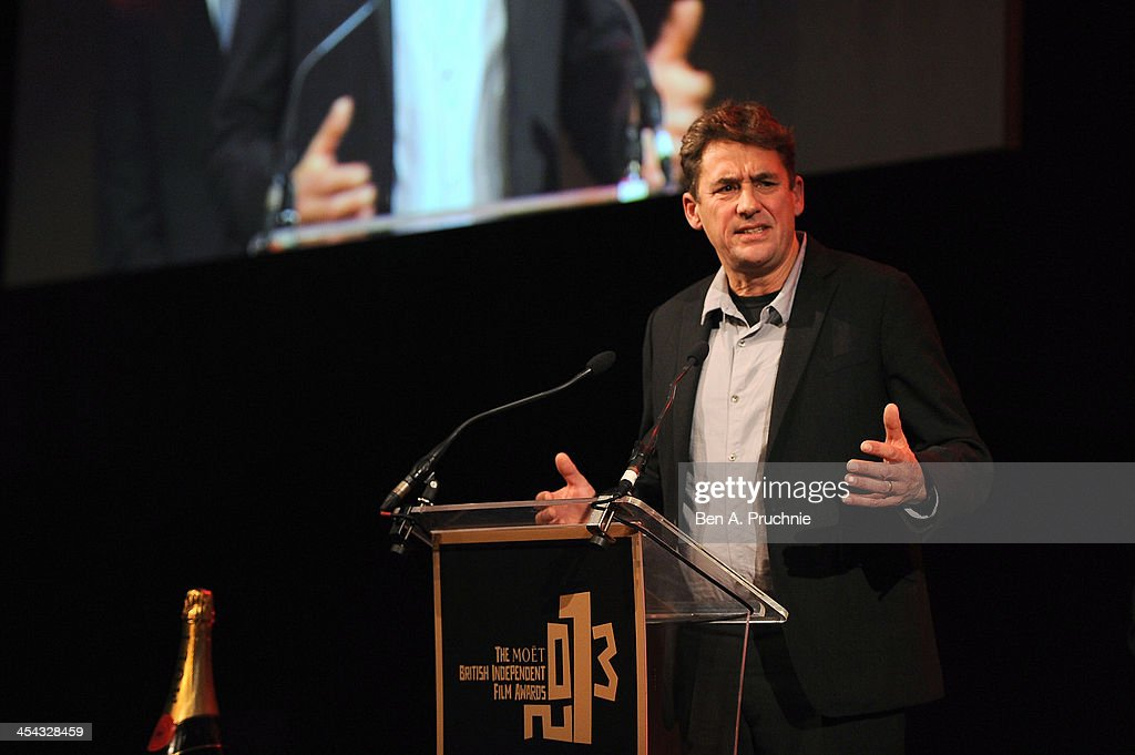 Director Tim Bevan presents the Variety Award as he attends the ceremony for the Moet British Independent Film Awards at Old Billingsgate Market on...