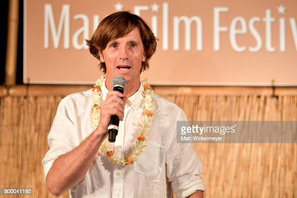 Director Tim Bonython speaks at the 'Celestial Cinema' during day two of the 2017 Maui Film Festival at Wailea on June 22 2017 in Wailea Hawaii