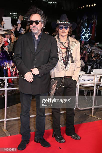 Director Tim Burton and Actor Johnny Depp attend the 'Dark Shadows' Japan Premiere at Roppongi Hills on May 12 2012 in Tokyo Japan The film will open...