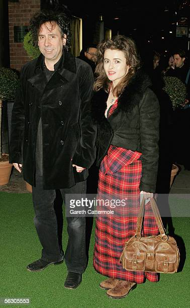 Director Tim Burton and actress Helena Bonham Carter arrive at the World Premiere of the theatrical production of Edward Scissorhands at Sadler's...