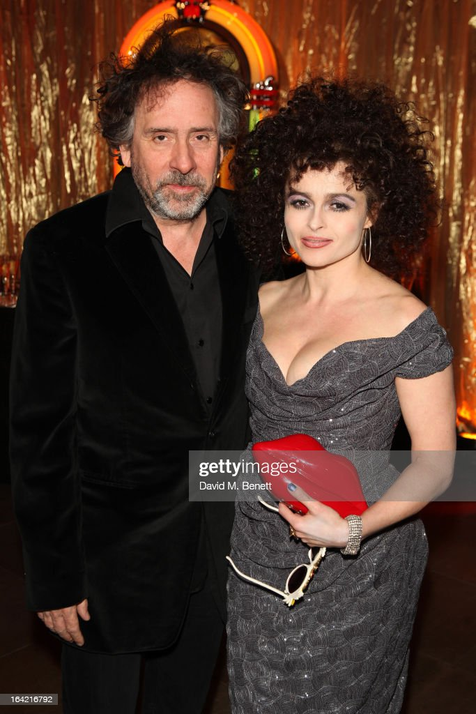 Director Tim Burton and actress Helena Bonham Carter attend 'A Night Of Funk Soul 2013' for Save The Children UK at The Roundhouse on March 20 2013...