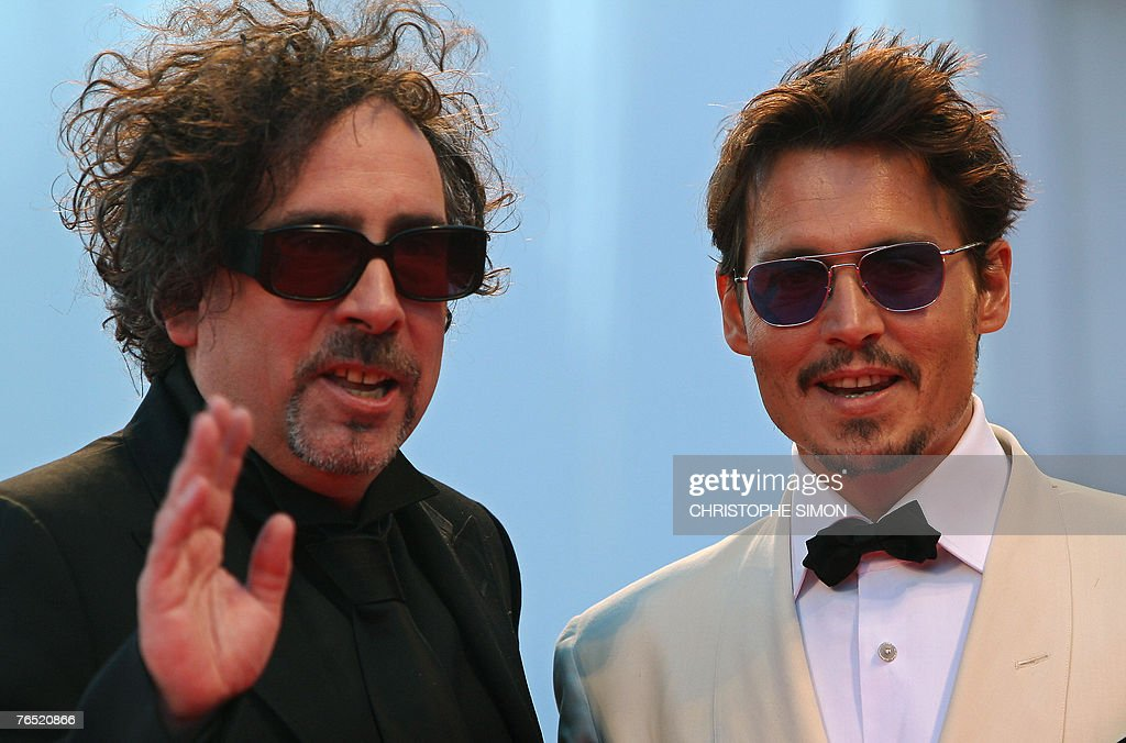 US director Tim Burton and US actor Johnny Deep (R) arrive at the Palazzo del Cinema during the 64th Venice International Film Festival at Venice Lido 05 September 2007. <a gi-track='captionPersonalityLinkClicked' href=/galleries/search?phrase=Johnny+Depp&family=editorial&specificpeople=202150 ng-click='$event.stopPropagation()'>Johnny Depp</a> will present Tim Burton the Golden Lion for Lifetime Achievement, to be followed by the screening of Tim Burton's The Nightmare Before Christmas 3-D.