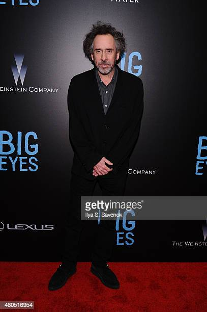 Director Tim Burton attend The New York Premiere Of BIG EYES at Museum of Modern Art on December 15 2014 in New York City