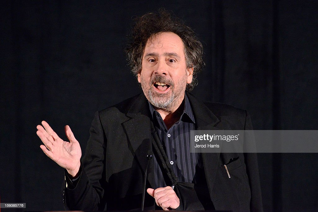 Director <a gi-track='captionPersonalityLinkClicked' href=/galleries/search?phrase=Tim+Burton&family=editorial&specificpeople=206342 ng-click='$event.stopPropagation()'>Tim Burton</a> attends the 38th Annual Los Angeles Film Critics Association Awards - Show at InterContinental Hotel on January 12, 2013 in Century City, California.