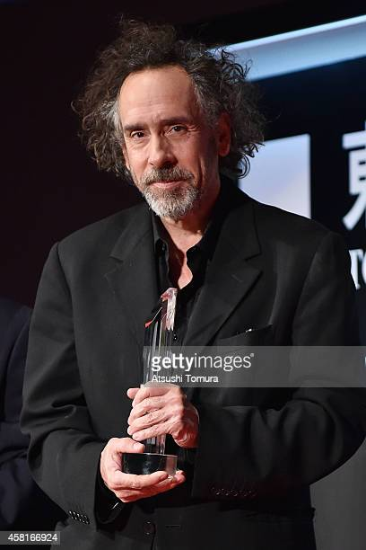 Director Tim Burton attends the closing ceremony of the 27th Tokyo International Film Festival at Roppongi Hills on October 31 2014 in Tokyo Japan
