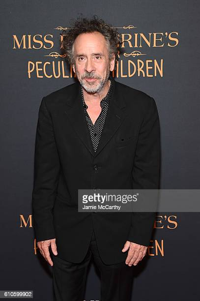 Director Tim Burton attends the 'Miss Peregrine's Home For Peculiar Children' premiere at Saks Fifth Avenue on September 26 2016 in New York City