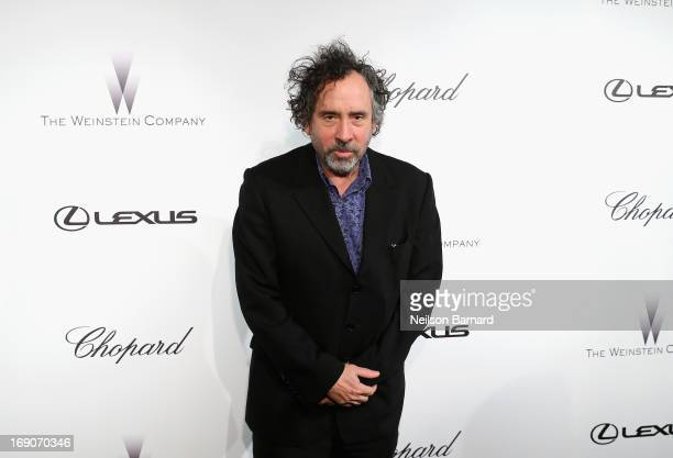 Director Tim Burton attends The Weinstein Company Party in Cannes hosted by Lexus and Chopard at Baoli Beach on May 19 2013 in Cannes France