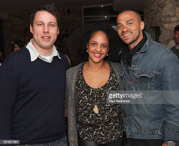 ALAC Director Tim Fleming Aryn DrakeLee and Jesse Williams attend the Art Los Angeles Contemporary 2012 VIP Reception at the home of Eugenio Lopez...