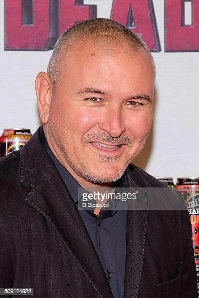 Director Tim Miller attends the 'Deadpool' fan event at AMC Empire Theatre on February 8 2016 in New York City