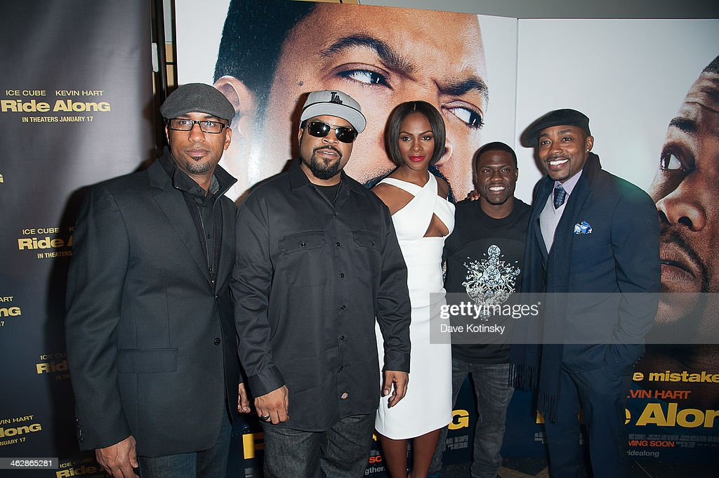 Director <a gi-track='captionPersonalityLinkClicked' href=/galleries/search?phrase=Tim+Story&family=editorial&specificpeople=2211861 ng-click='$event.stopPropagation()'>Tim Story</a>, actors Ice Cube, <a gi-track='captionPersonalityLinkClicked' href=/galleries/search?phrase=Tika+Sumpter&family=editorial&specificpeople=4168370 ng-click='$event.stopPropagation()'>Tika Sumpter</a>, Kevin Hart and producer Will Packer attend the 'Ride Along' screening at AMC Loews Lincoln Square on January 15, 2014 in New York City.