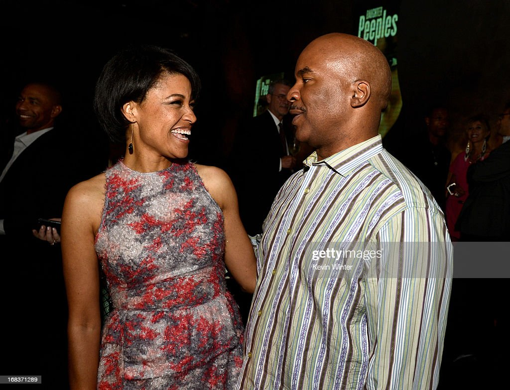 Director Tina Gordon Chism (L) and actor <a gi-track='captionPersonalityLinkClicked' href=/galleries/search?phrase=David+Alan+Grier&family=editorial&specificpeople=206886 ng-click='$event.stopPropagation()'>David Alan Grier</a> pose at the after party for the premiere of Lionsgate Films and Tyler Perry's 'Peeples' at Lure on May 8, 2013 in Los Angeles, California.