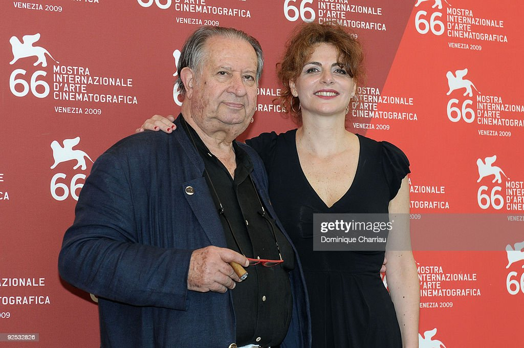 Director Tinto Brass and actress Caterina Varzi attend 'Hotel Courbet' Photocall at the Palazzo del Casino during the 66th Venice Film Festival on September 11, 2009 in Venice, Ita
