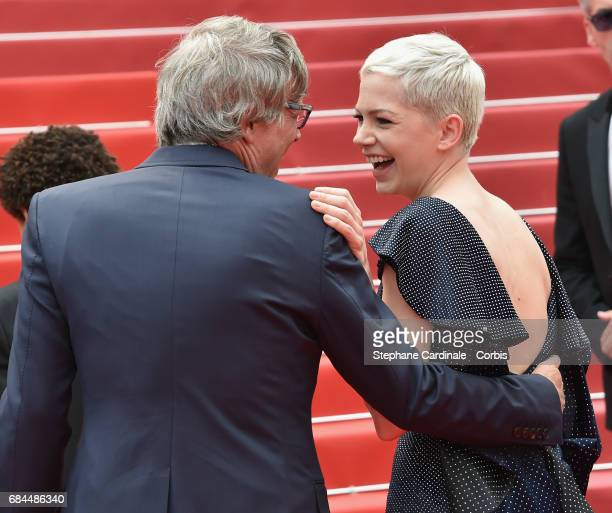 Director Todd Haynes and actor Michelle Williams attend the 'Wonderstruck' screening during the 70th annual Cannes Film Festival at Palais des...