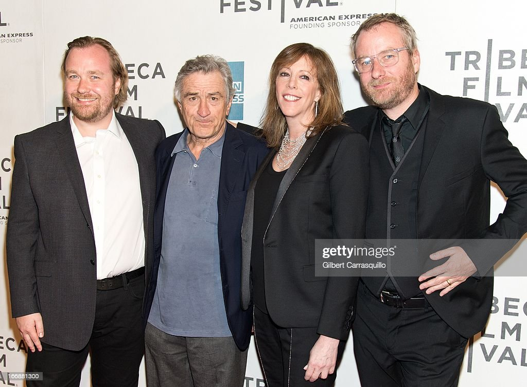 Director Tom Berninger, <a gi-track='captionPersonalityLinkClicked' href=/galleries/search?phrase=Robert+De+Niro&family=editorial&specificpeople=201673 ng-click='$event.stopPropagation()'>Robert De Niro</a>, <a gi-track='captionPersonalityLinkClicked' href=/galleries/search?phrase=Jane+Rosenthal&family=editorial&specificpeople=202835 ng-click='$event.stopPropagation()'>Jane Rosenthal</a> and <a gi-track='captionPersonalityLinkClicked' href=/galleries/search?phrase=Matt+Berninger&family=editorial&specificpeople=4334193 ng-click='$event.stopPropagation()'>Matt Berninger</a> of The National attend the 'Mistaken for Strangers' premiere during the opening night of the 2013 Tribeca Film Festival at BMCC Tribeca PAC on April 17, 2013 in New York City.