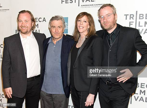 Director Tom Berninger Robert De Niro Jane Rosenthal and Matt Berninger of The National attend the 'Mistaken for Strangers' premiere during the...