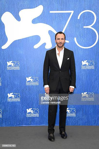 Director Tom Ford attends a photocall for 'Nocturnal Animals' during the 73rd Venice Film Festival at Palazzo del Casino on September 2 2016 in...