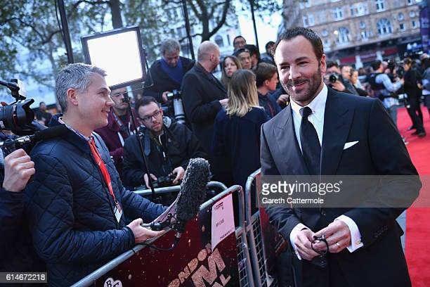 Director Tom Ford attends the 'Nocturnal Animals' Headline Gala screening during the 60th BFI London Film Festival at Odeon Leicester Square on...