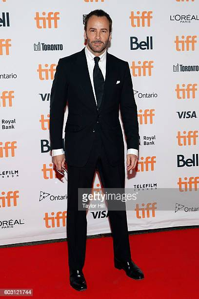 Director Tom Ford attends the premiere of 'Nocturnal Animals' during the 2016 Toronto International Film Festival at Princess of Wales Theatre on...