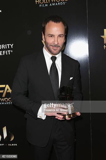 Director Tom Ford Hollywood Breakthrough Director Award recipient for 'Nocturnal Animals' poses in the press room at the 20th Annual Hollywood Film...